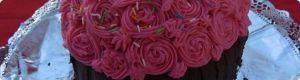 receta de cocina: Tarta flores y chocolate