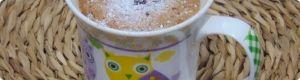 receta de cocina: Bizcocho en una taza