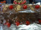 postre: Tarta de turr�n y chocolate al Pedro Xim�nez