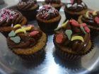 postre: Cupcakes de chocolate y naranja