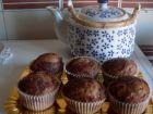 receta y postre: Magdalenas de plátano y cacao
