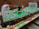 recetas, paso 8, tarta campo de futbol