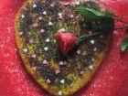 receta y postre: Bizcochito de corazón con  chocolate