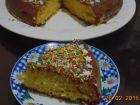 receta y postre: Bizcocho de vainilla con cobertura de chocolate