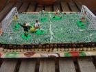 receta y postre: Tarta campo de futbol