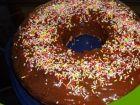 receta y postre: Bizcocho artesano cubierto de chocolate fondant