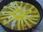 receta y postre: Tarta de masa fresca  y cabello de ángel