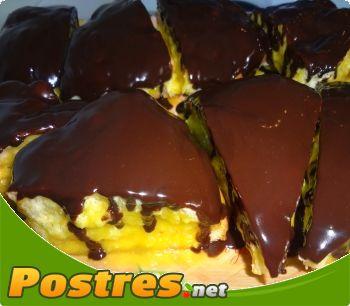 preparación de receta Cuñas de chocolate