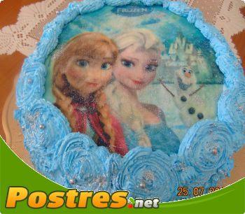 preparación de Postre de Tarta Frozen de nata