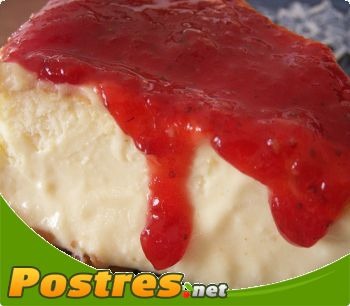 preparación de Postre de Tarta de queso y cuajada