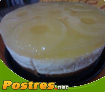preparación de Postre de Tarta de piña y coco