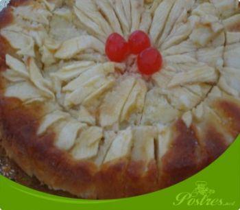 preparación de Postre de Bizcocho de manzana