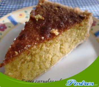 preparación de Postre de Tarta de hojaldre con almendras