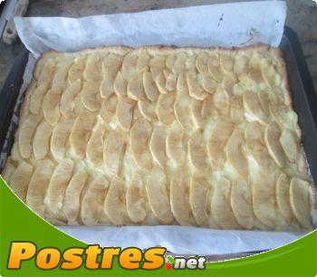 preparación de Postre de Tarta de manzana con masa quebrada