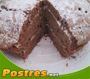 preparación de Postre de Tarta de chocolate rellena de butercrem