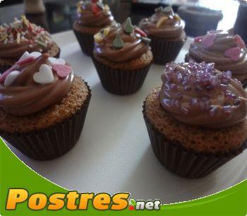 preparación de Postre de Cupcakes de chocolate
