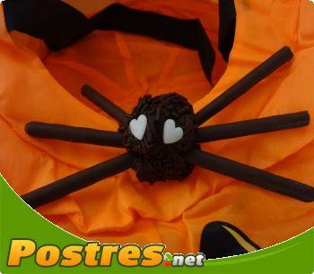 preparación de Postre de Arañas escalofriantes de hallowen