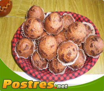 preparación de Postre de Magdalenas de chocolate