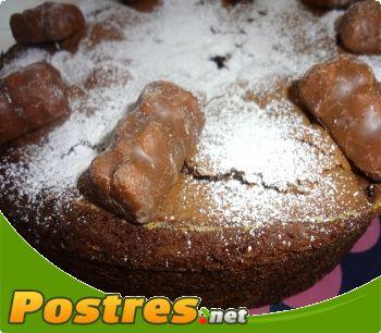 preparación de Postre de Bizcocho al chocolate