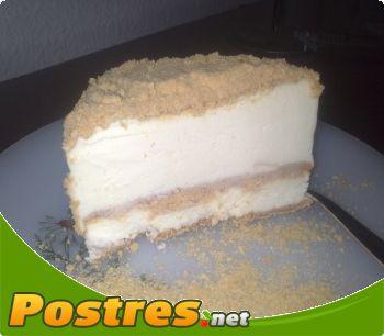 preparación de Postre de Tarta de leche condensada helada