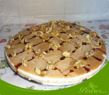 preparación de Postre de Tarta de queso y nueces de Ana Sevilla