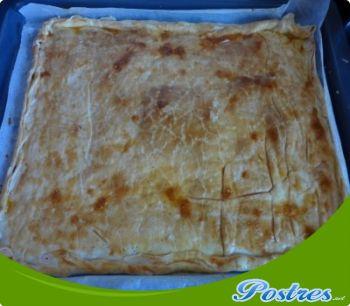 preparación de Postre de Empanada de manzana