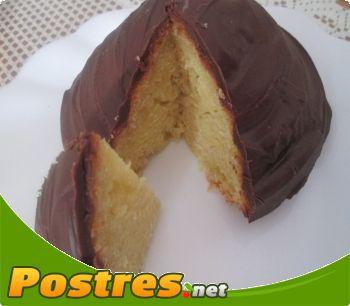 preparación de Postre de Bizcocho de mandarina y chocolate