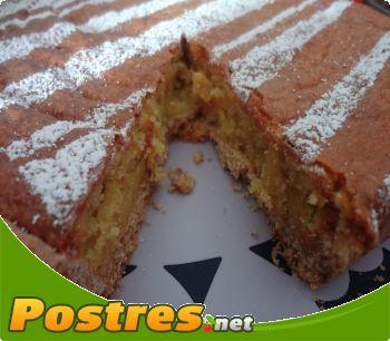 receta Tarta de almendras y cabello de �ngel