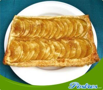 preparación de Postre de Tarta rápida de hojaldre con manzanas