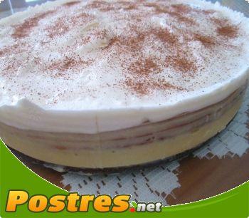 preparación de Postre de Tarta helada de natillas y nata