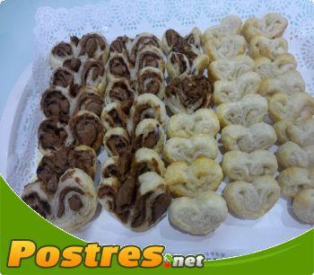 preparación de Postre de Palmeritas de chocolate