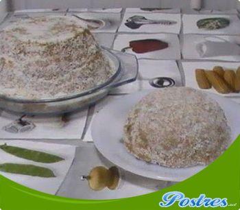 preparación de Postre de Queso de galletas y miel