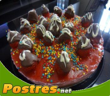 preparación de Postre de Tarta petit fresa