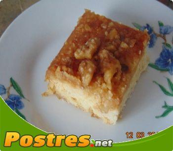 preparación de Postre de Tarta de nueces