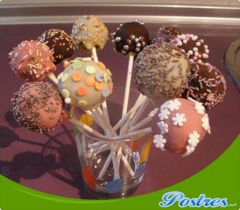 preparación de Postre de Cakepops