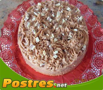 preparación de Postre de Tarta de vainilla y praline