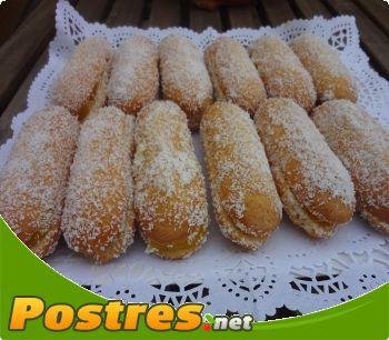 preparación de Postre de Soletillas con crema pastelera