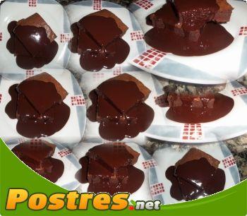 preparación de Postre de Brownies de almendras con chocolate a la canela