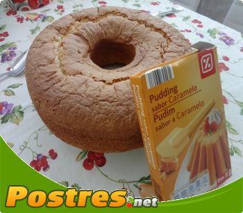 preparación de Postre de Bizcocho sabor caramelo