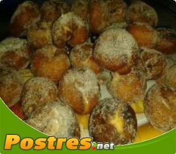 preparación de Postre de Rosquillas de nata