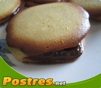 preparación de Postre de Conchas de chocolate