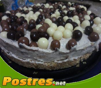 preparación de Postre de Tarta helada de chocolate