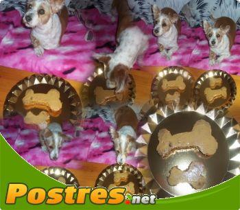 preparación de Postre de Tarta de cumpleaños para perros