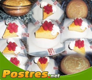 preparación de Postre de Pastel de queso Japonés