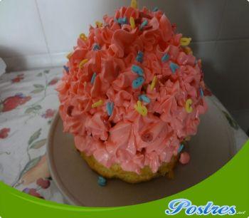 preparación de Postre de Gran cupcakes con aroma de azahar