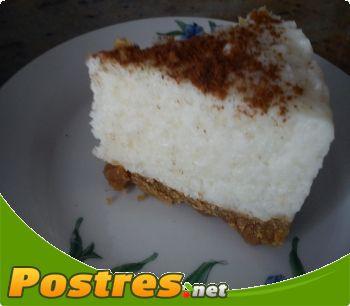 preparación de Postre de Tarta de arroz con leche.