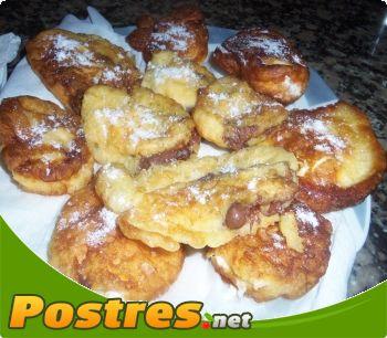 preparación de Postre de Buñuelos dulces y salados