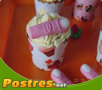 preparación de Postre de Cupcakes para Halloween
