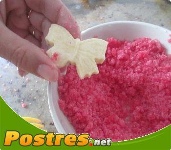 preparación de Postre de Como hacer azúcar rosa