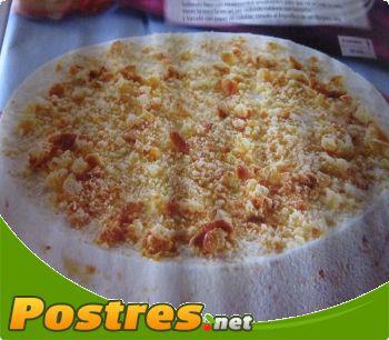 preparación de Postre de Tarta: mousse de polvorones